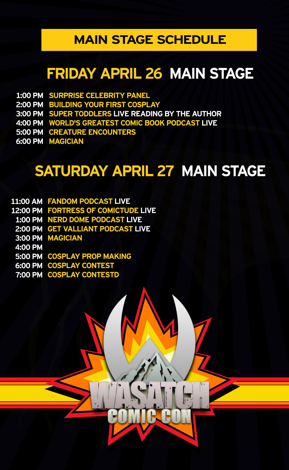 Main Stage | Wasatch Comic Con